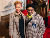 Tonya Lewis Lee and Spike Lee have arrived.