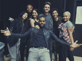 Tinashe, Brandon Victor Dixon, Vanessa Hudgens, Mario, Brennin Hunt, Jordan Fisher and Kiersey Clemons take an adorable group shot.