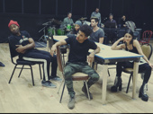 Brandon Victor Dixon, Tinashe, Jordan Fisher, Brennin Hunt and Vanessa Hudgens hit the rehearsal room.