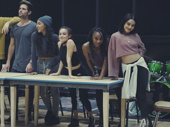 Brennin Hunt, Tinashe and Vanessa Hudgens work it in rehearsal.