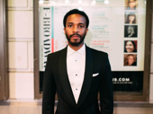 André Holland, who appeared at the Friedman Theatre in Jitney and garnered acclaim for his performance in Tarell Alvin McCraney's film Moonlight, supports the scribe on opening night.