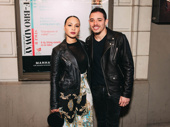 Recently engaged theater couple Jasmine Cephas Jones and Anthony Ramos snap a photo.