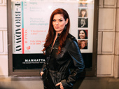 Debra Messing, who appeared on the Friedman stage in Outside Mullingar, strikes a pose.
