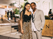 Hamilton Tony winner Leslie Odom Jr snaps a sweet pic with his wife and fellow Broadway alum Nicolette Robinson.