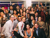 They'll tell the story of tonight! Lin-Manuel Miranda poses with the Hamilton tour cast. The Puerto Rico engagement, which serves as a launch to the show's third national tour, will run through January 27.
