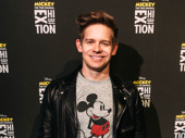 Newsies fave Andrew Keenan Bolger sports a Mickey sweater.