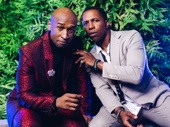 Puerto Rico's Aaron Burr Donald Webber Jr. hangs with Hamilton Broadway's Tony-winning Burr Leslie Odom Jr.