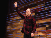 Colin Quinn takes his opening night bow.