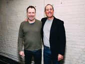Red State Blue State star Colin Quinn with comedian Jerry Seinfeld.