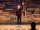 Colin Quinn thanks the crowd at curtain call.