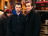 Sea Wall / A Life co-stars Tom Sturridge and Jake Gyllenhaal get together.