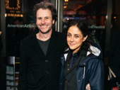 Josh Hamilton supports his former Coast of Utopia co-star Ethan Hawke with wife Lily Thorne.