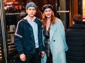 13 Reasons Why co-stars Tommy Dorfman and Kate Walsh have a theater night out.