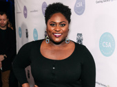 Tony nominee Danielle Brooks snaps a photo.