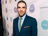 Stage and screen star Zachary Quinto looks sharp.