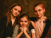 """""""Being a Carney is love. Being a Carney is family. Being a Carney is struggle. Being a Carney is stories. Being a Carney is lots and lots of mashed potatoes.""""  Brooklyn Shuck (Nunu Carney)Willow McCarthy, Matilda Lawler and Brooklyn Shuck play Mercy, Honor and Nunu Carney, respectively."""