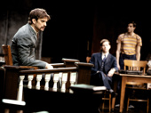 Frederick Weller as Bob Ewell and the cast of To Kill a Mockingbird