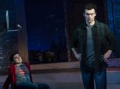 Kyle McArthur as Simon and Bryce Pinkham as Jim in Superhero.