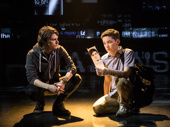 Alex Boniello as Connor and Andrew Barth Feldman as Evan in Dear Evan Hansen.