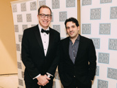 Camelot music director Ted Sperling poses with husband, shoe designer Noah Waxman.