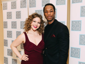 Camelot ensemble members Colleen Grate and Doron JePaul Mitchell get together.