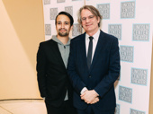 Lin-Manuel Miranda and Camelot director Bartlett Sher on the red carpet.
