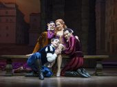 Will Burton, Rick Faugno, Stephanie Styles and Corbin Bleu in Kiss Me, Kate.