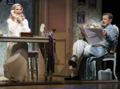 Kelli O'Hara as Lilli Vanessi and Will Chad as Fred Graham in Kiss Me, Kate.