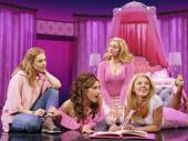 Erika Henningsen as Cady, Krystina Alabado as Gretchen, Taylor Louderman as Regina and Kate Rockwell as Karen in Mean Girls.