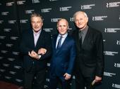 Kiss Me, Kate director Scott Ellis poses with Alec Baldwin and Victor Garber.