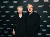 Broadway stalwarts Charlotte d'Amboise and Walter Bobbie snap a photo.