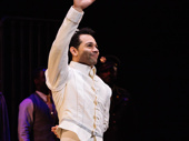 Kiss Me, Kate standout Corbin Bleu waves to the audience.