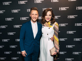 Nathan Johnson and Laura Osnes spend date night at the Broadway opening of Kiss Me, Kate.
