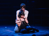 """Reeve Carney and Eva Noblezada embrace for """"All I've Ever Known."""""""