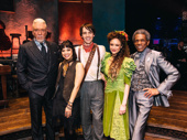 Hadestown principals Patrick Page, Eva Noblezada, Reeve Carney, Amber Gray and André De Shields get together.