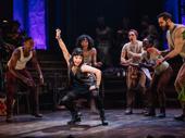 Eva Noblezada busts a move as Eurydice.