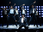 Ephraim Sykes as David Ruffin and the cast of Ain't Too Proud.