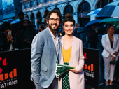 Josh Groban and Schuyler Helford step out.