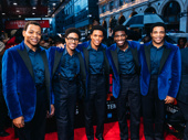 Congrats to these towering talents on a wonderful opening night! Catch Derrick Baskin, Ephraim Sykes, Jeremy Pope, Jawan M. Jackson and James Harkness in Ain't Too Proud at the Imperial Theatre.
