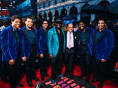 Ain't Too Proud stars Jeremy Pope, Derrick Baskin, Ephraim Sykes, Jawan M. Jackson and James Harkness get together with Temptations founder and frontman Otis Williams and Berry Gordy.