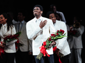 Ain't Too Proud star Jawan M. Jackson takes his opening-night curtain call.