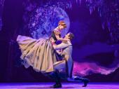 Patti Murin as Anna and Joe Carroll as Hans in Frozen.