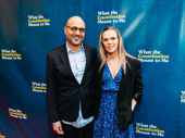 Tony nominee Ayad Akhtar with stage and screen actress Annika Boras.