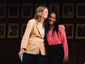 What the Constitution Means to Me cast members Heidi Schreck and Thursday Williams during curtain call.