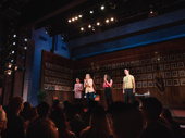 What the Constitution Means to Me's Rosdely Ciprian, Heidi Schreck, Thursday Williams and Mike Iveson take their opening night bow.