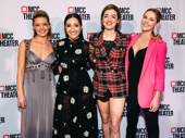 Mean Girls stars Kate Rockwell, Krystina Alabado, Barrett Wilbert Weed and Taylor Louderman hit the red carpet.