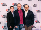 The Prom creators Chad Beguelin, Bob Martin and Matthew Sklar snap a sweet pic.