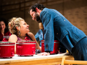 Ali Stroker as Ado Annie and Will Brill as Ali Hakim in Oklahoma!