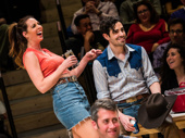 Mallory Portnoy as Gertie and Damon Daunno as Curly in Oklahoma!