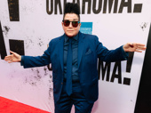 Stage and screen star Lea DeLaria parties on the carpet.